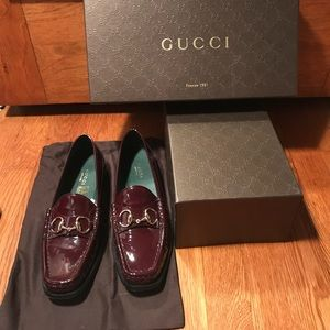Gucci Horsebit  Vitello Vernice Loafers